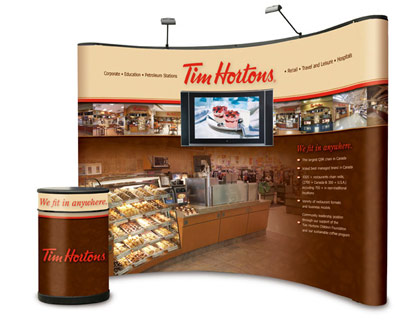 Trade Show Display for Tim Hortons