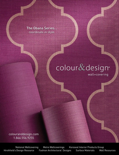 Creative advertisement design obana series Colour & Design