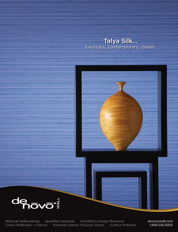 Magazine Ad Design Talya Silk For Denovo Wall In Interior