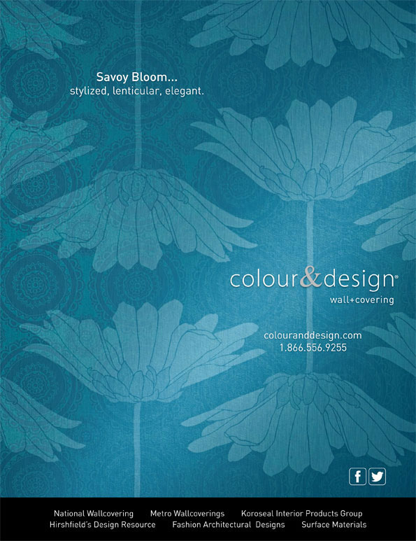 Creative Photography For Colour Design Savoy BloomTM Ad In Interior Magazine