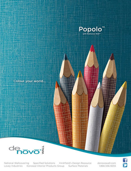 Graphic design full page magazine advertisement