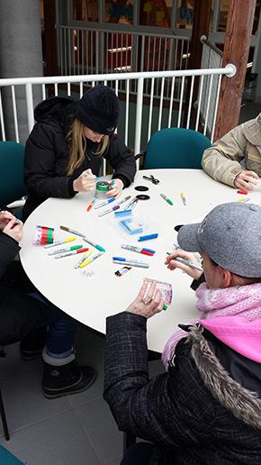 Onondaga Farms plastic cup arts and crafts Tim Horton Children's Foundation