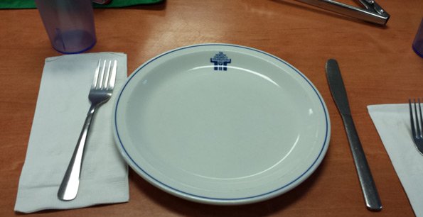 Onondaga Farms lunch table arrangement with THCF plate Tim Horton Children's Foundation