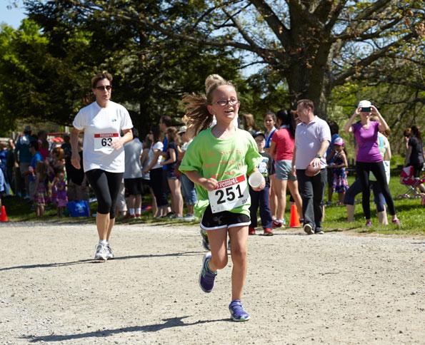 Event photographer THCF Run/Walk girl runner Bronte Creek Park Oakville 2014