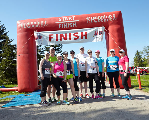 Event photographer THCF Run/Walk May 2014 runners at the finishing line