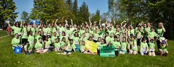 Event photographer Tim Horton Children Foundation run walk for the Camps may 2014 girls running team