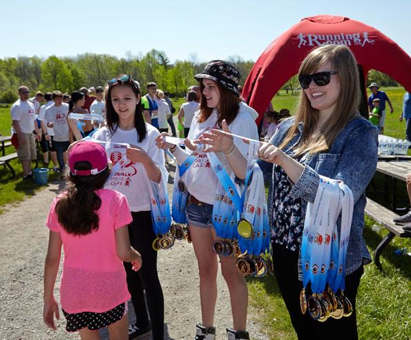Event photographer Tim Horton Children Foundation Run Walk Bronte Creek Park Oakville 2014 volunteers