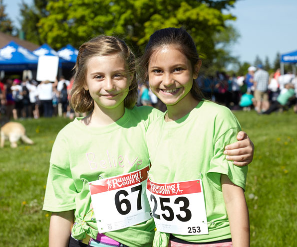 Event photographer Tim Horton Children's Foundation run walk for the Camps May 2014 girls running team