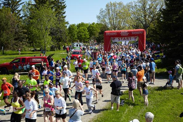 Event photographer Tim Horton Children's Foundation Run and Walk Bronte Creek Park 2014 starting line