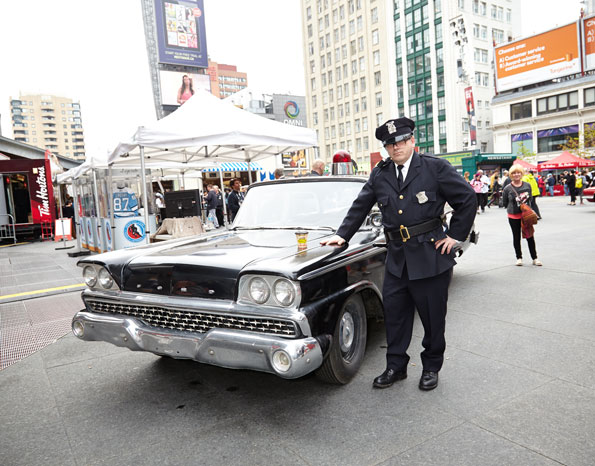 Event photography Tim Hortons Fifty Celebration Replica Police Car with Officer