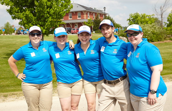 Event Photography THCF 38 Invitational Golf Tournament counselors Onondaga Farms group encouraging guests