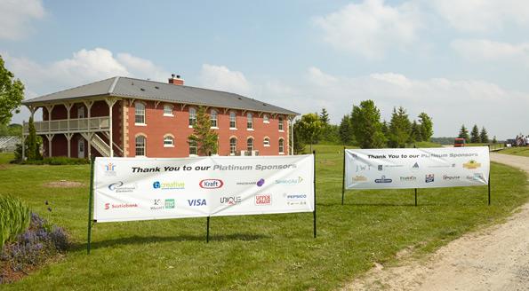 Banner design Tim Horton Children's Foundation 38th Golf Invitational platinum sponsor banners Onondaga Farms