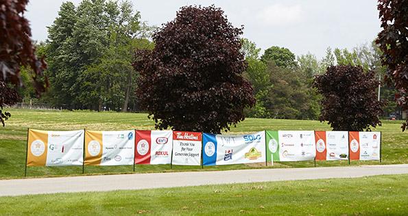 Banner design Tim Horton Children's Foundation 38th Golf Tournament partner banners Flamborough Hills golf course