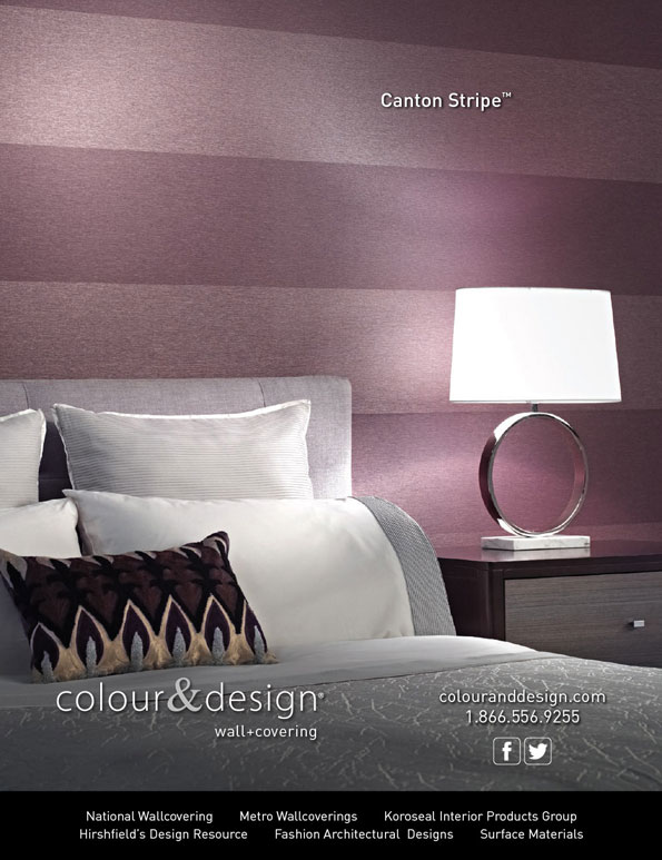 Ad design for colour design product canton stripetm bcs for Interior design adverts