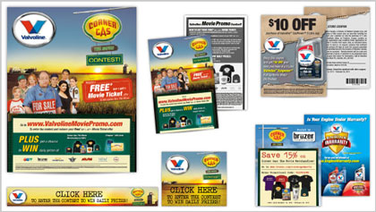 Marketing promotion design for Valvoline Corner Gas The Movie