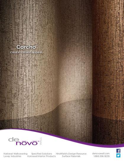 Advertisement design for DeNovo Wall new product Interior Design Magazine