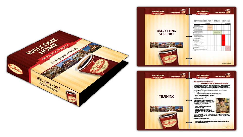 Literature binder design for Tim Hortons
