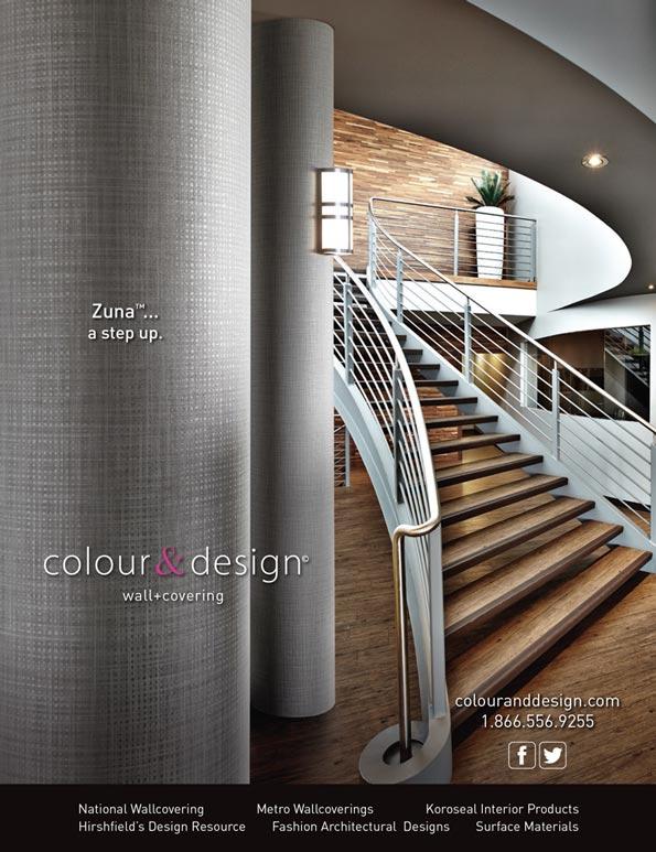 Wall Covering Service : Magazine ad design colour s product zuna™ bcs