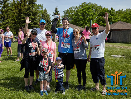 Team Bcreative at Tim Horton Children's Foundation Run/Walk 2015