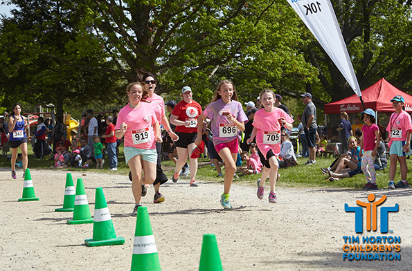 Event Photography of finish line at Tim Horton Children's Foundation
