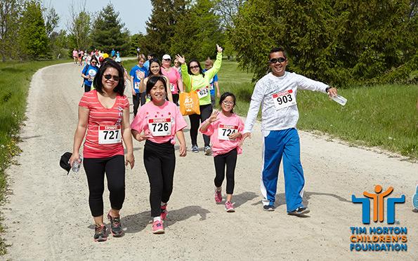 Photography of family group at Tim Hortons Run/Walk