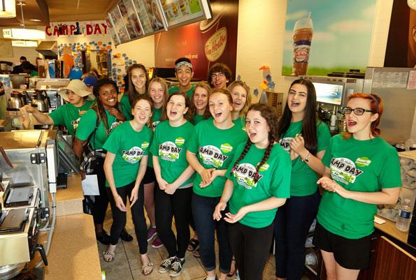 Burlington Central Choir at Tim Hortons Camp Day