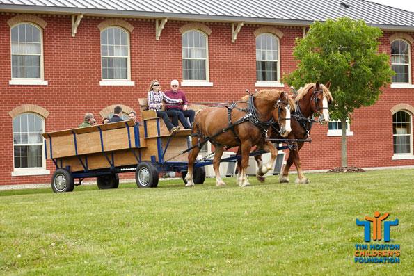 Tim Horton Children's Foundation Onondaga Farms horse carriage ride
