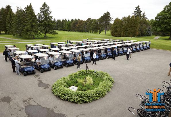Event photography Tim Horton Children's Foundation tournament 2015 golf carts lined up