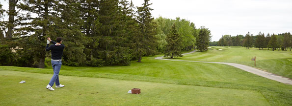 Event photography Tim Hortons golf tournament 2015 golfers teeing off