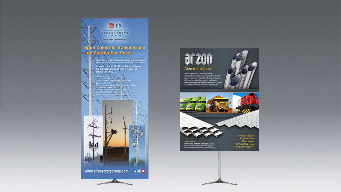 Hero Telescopic Banner Stand Display Bcreative