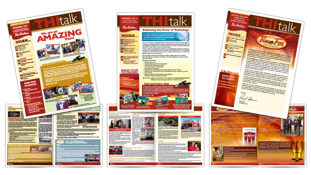 Professional newsletter design in Oakville Tim Hortons