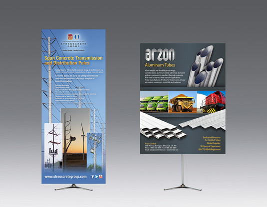 Adjustable hero telescopic banner stands print and design for trade shows