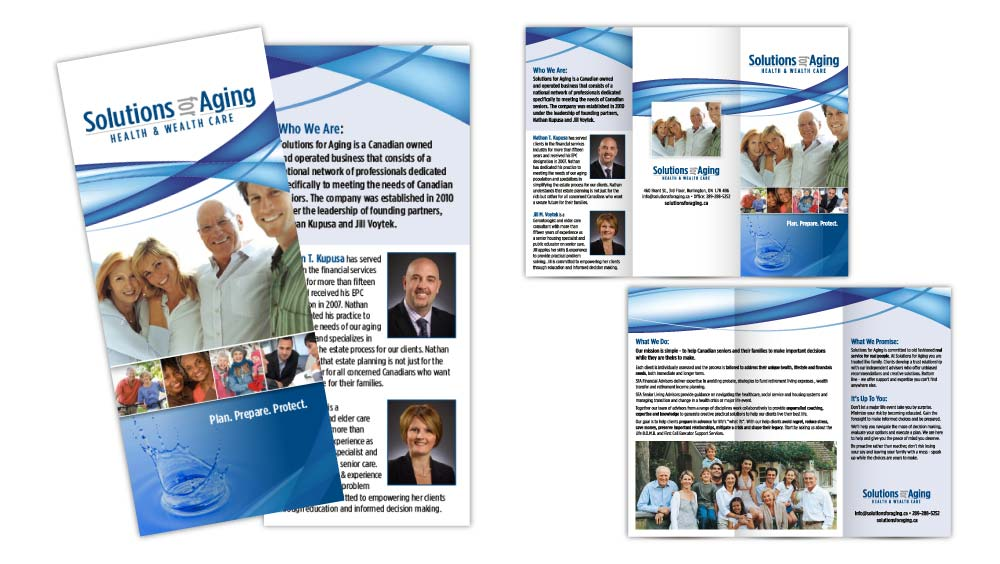 Buisiness tri-fold brochure design Burlington Ontario