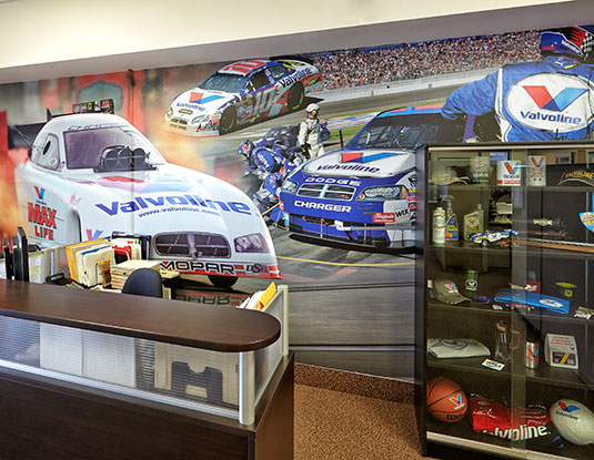Wall graphic display design and print marketing