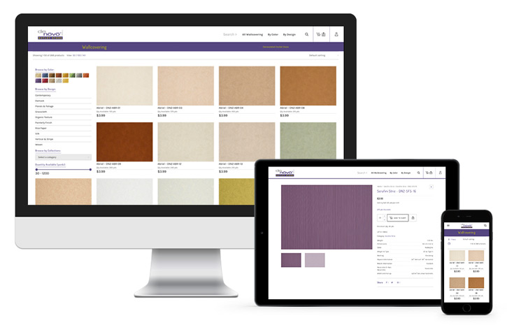 E-commerce website design for Denovo Wall