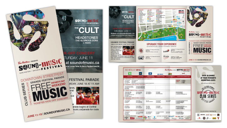 Sound of Music Festival 2016 brochure design