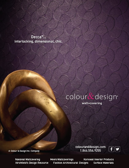 Advertisement design Decca wall covering for Colour & Design