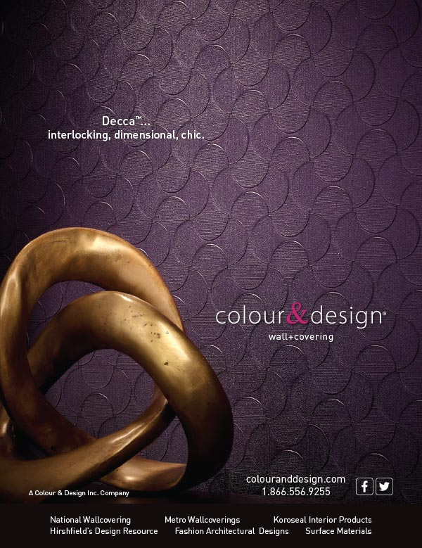 Ad design Decca wall covering for Colour & Design