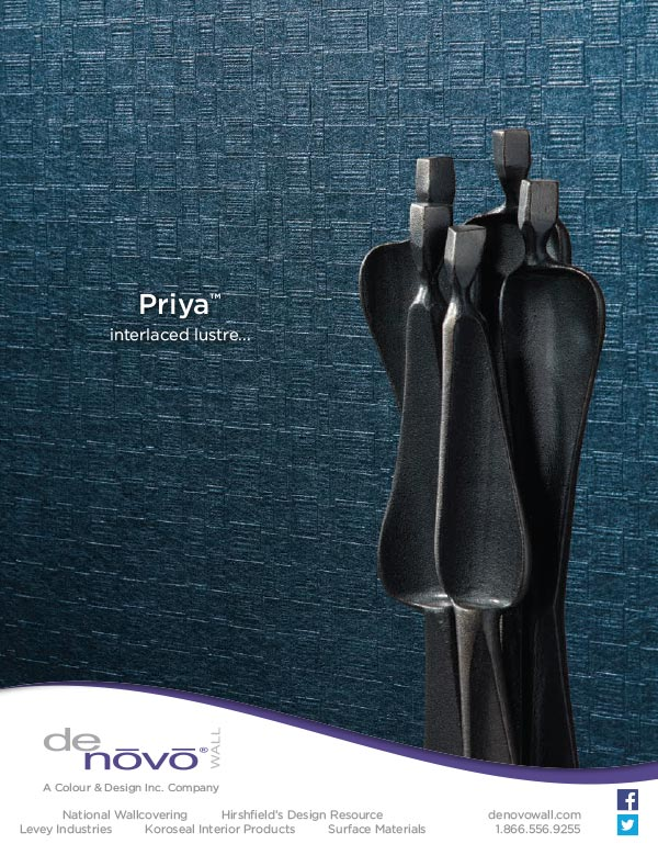Ad design for Priya wall covering for Denovo Wall