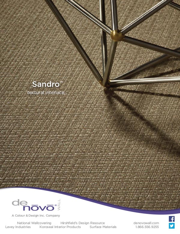 Interior Design photography and ad design Sandro for Denovo Wall