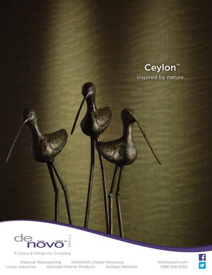 Ad photography for denovo wall 39 s ceylon wall covering for Ad interior design