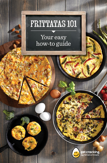 Egg Farmers of Ontario Frittata 101 booklet design