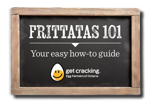 Egg Farmers of Ontario Frittata 101 graphic design